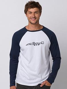 animal-long-sleeve-retro-action-graphic-t-shirt-indigo-blue