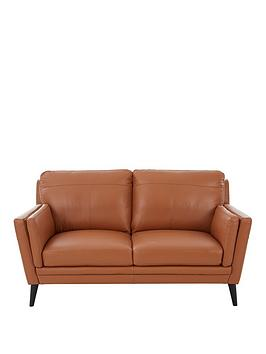 Product photograph showing Lincoln Leather 2 Seater Sofa