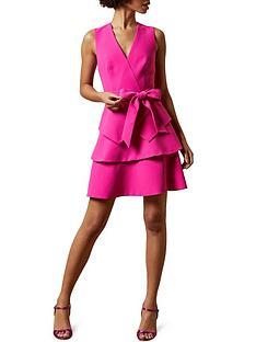 ted-baker-reinah-tiered-dress-pink