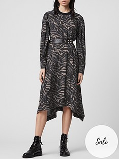 allsaints-fayre-remix-tiger-print-dress-grey