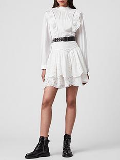 allsaints-aislyn-broiderie-dress-white