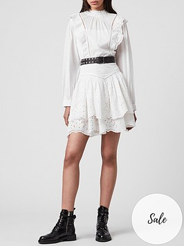 allsaints-aislyn-broiderie-dress-white