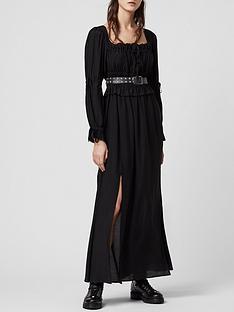 allsaints-kimi-sheer-detail-long-sleeve-midi-dress-black