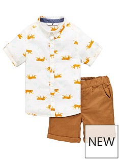 v-by-very-boys-palm-print-shirt-and-chino-short-set