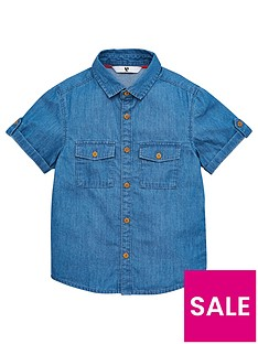 v-by-very-boys-short-sleeved-denim-shirt-blue