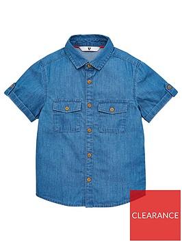 v-by-very-boys-short-sleeved-denim-shirt-blue