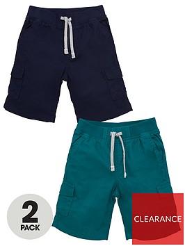 v-by-very-boys-2-pack-cargo-shorts-multi