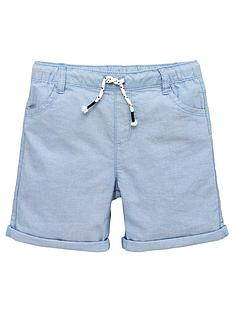 v-by-very-boys-washed-oxford-short-blue