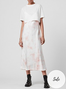 allsaints-benno-layered-t-shirt-and-tie-dye-slip-dress-whitepink