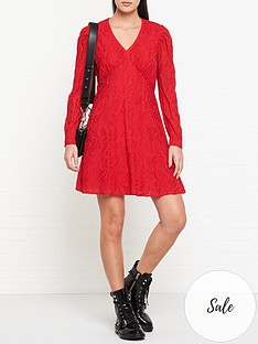 allsaints-rosi-embroidered-long-sleeve-dress-red