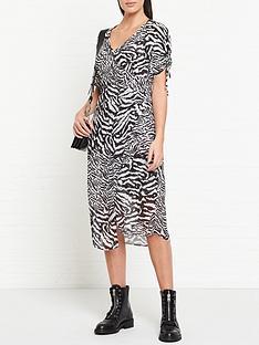 allsaints-carla-remix-zebra-print-dress-whiteblack