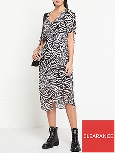 allsaints-carla-remix-zebra-print-dress-whiteblack
