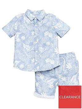 v-by-very-boys-2-piece-palm-print-shirt-and-shorts-set-blue