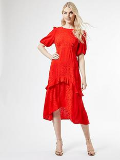 dorothy-perkins-satin-jacquard-ruffle-midi-dress-ndash-red