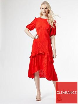 dorothy-perkins-satin-jacquard-ruffle-midi-dress-ndash-red