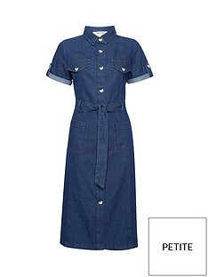 dorothy-perkins-petite-indigo-denim-shirt-dress-blue