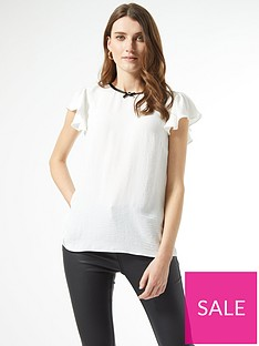 dorothy-perkins-bow-neck-detail-top-ivory