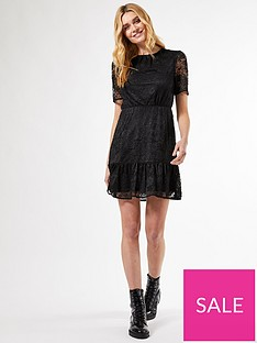 dorothy-perkins-lace-smock-dress-black