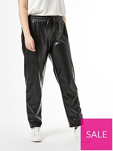 dorothy-perkins-curve-pu-trousers-black