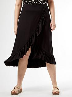 dorothy-perkins-curve-ruffle-wrap-skirt-black