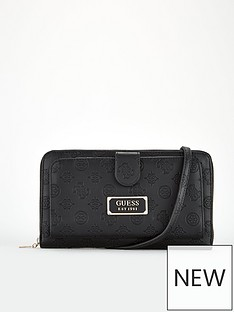 guess-logo-love-travel-cross-body-purse-black