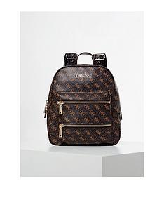 guess-caley-all-over-logo-backpack-brown