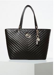 guess-kamryn-chevron-quilted-tote-bag-black
