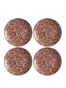 maxwell-williams-boho-damask-red-dinner-plates-ndash-set-of-4