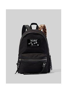 marc-jacobs-canvas-leopard-strap-backpack-black