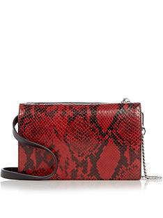 allsaints-claremount-lizard-print-chain-cross-body-bag-red