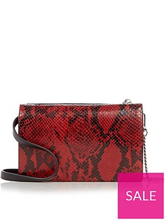 allsaints-claremount-lizard-print-chain-cross-body-bag-red