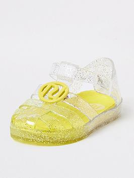 river-island-mini-mini-girls-glitter-jelly-sandal-yellow