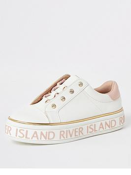 river-island-girls-lace-up-flatform-trainers-white