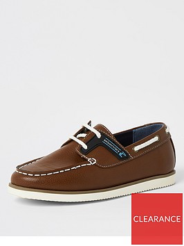 river-island-boys-lace-up-boat-shoe-tan
