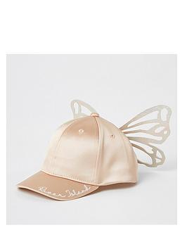 river-island-mini-mini-girls-butterfly-satin-cap-pink
