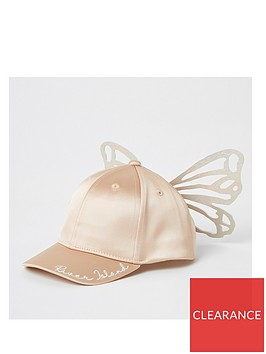 river-island-mini-mini-girls-butterfly-satin-cap-pink