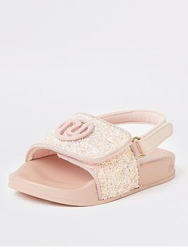 river-island-mini-mini-girls-glitter-sliders-pink