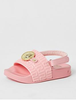 river-island-mini-mini-girls-pantha-head-sliders-pink