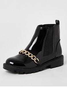 river-island-girls-patent-chain-boot-black