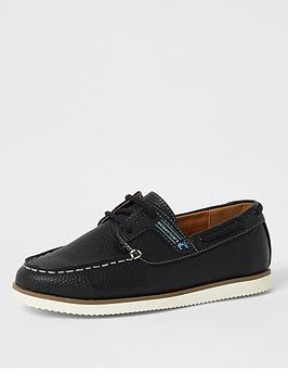 river-island-boys-lace-up-boat-shoe-navy