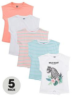 v-by-very-girls-5-pack-tie-tops-multi