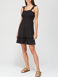 v-by-very-tie-detail-jersey-dress-black