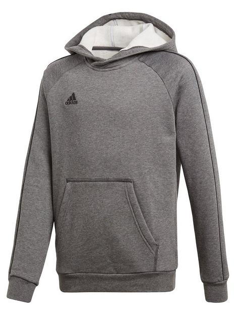 adidas-youth-core-18-sweat-hooded-tracksuit-top-grey