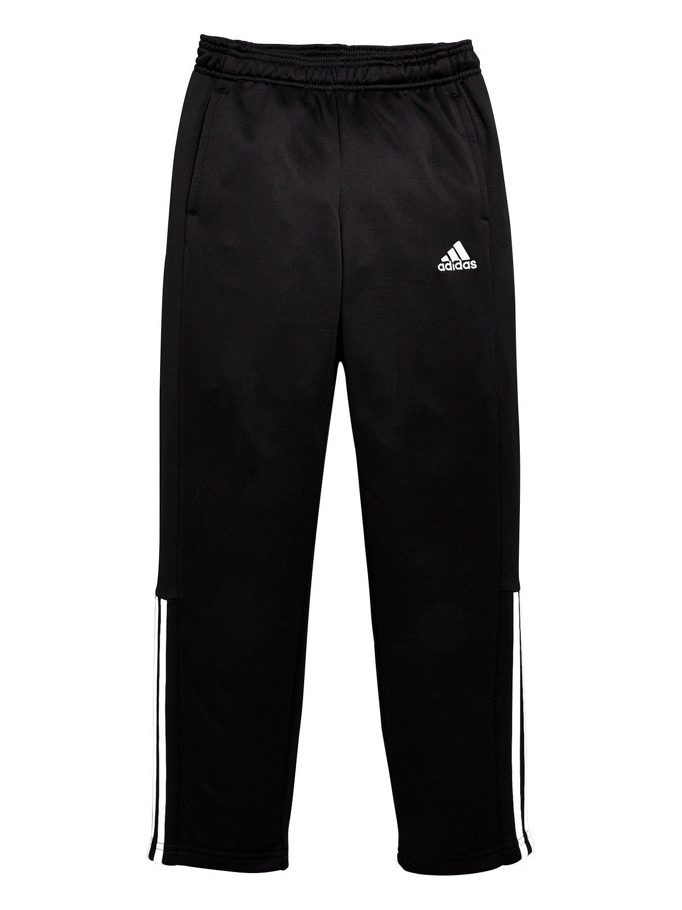 New Kids Boys Stripe School Sport Navy Black Pants Tracksuit Bottoms 2-3 Years