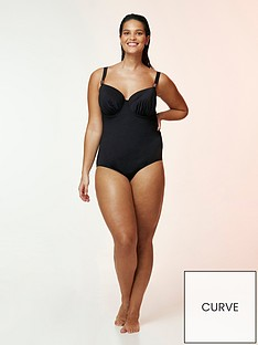 evans-black-wired-plunge-swimsuit