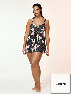evans-hibiscus-floral-print-swimdress-black