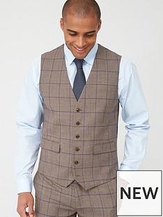skopes-standard-welburn-waistcoat-brown-check