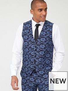 skopes-standard-morrissey-floral-jacquard-weave-waistcoat-navy