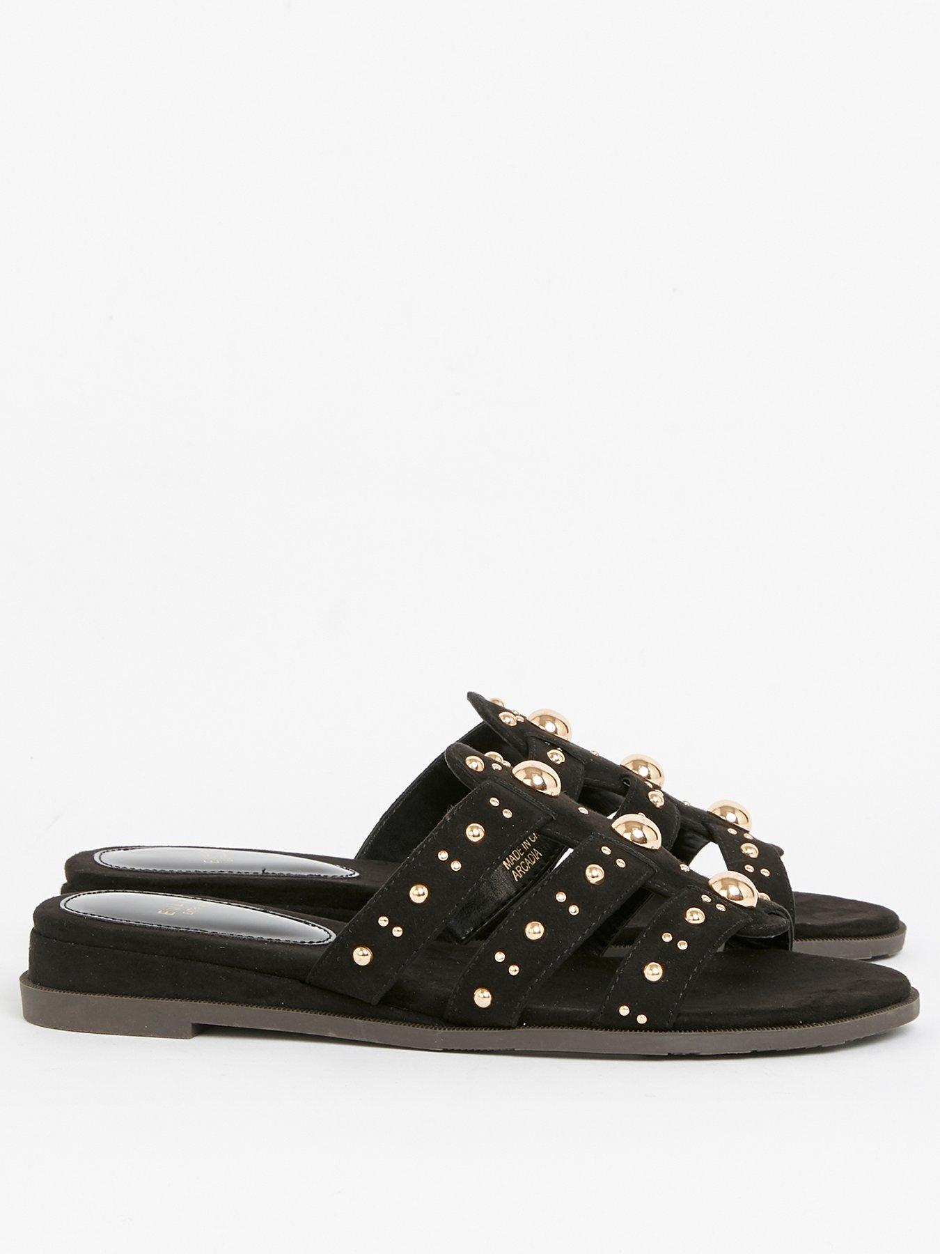 Evans Extra Wide Fit Studded Sliders