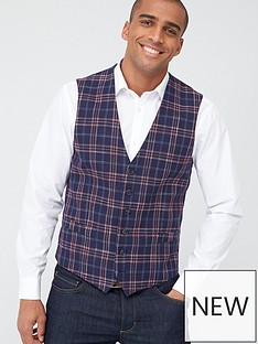 skopes-standard-perin-waistcoat-navyred-check